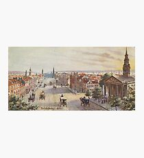 Lámina fotográfica Vintage Broadway NYC Artwork (1840)