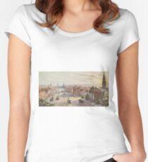 Camiseta entallada de cuello redondo Vintage Broadway NYC Artwork (1840)