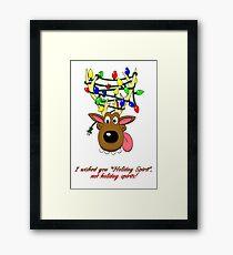 Holiday Spirit Card Framed Print
