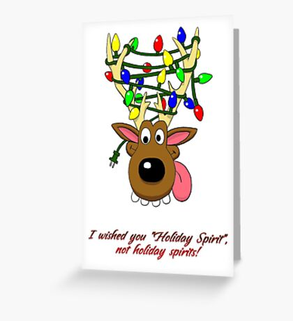 Holiday Spirit Card Greeting Card