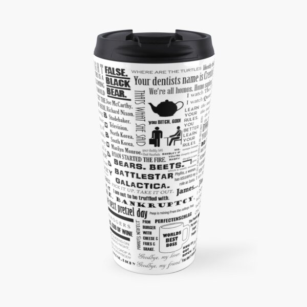 The Office Quotes Graphic Travel Mug