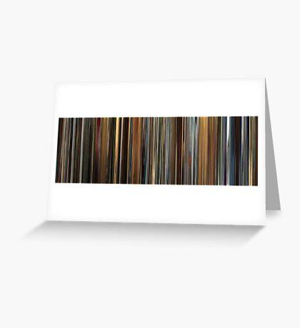 Moviebarcode: Ocean's Twelve (2004) Greeting Card