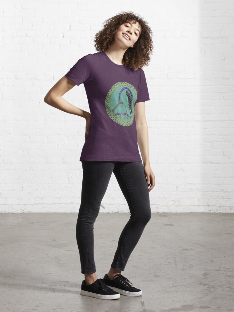 Alternate view of Iron Gwazi Death Roll Design Essential T-Shirt