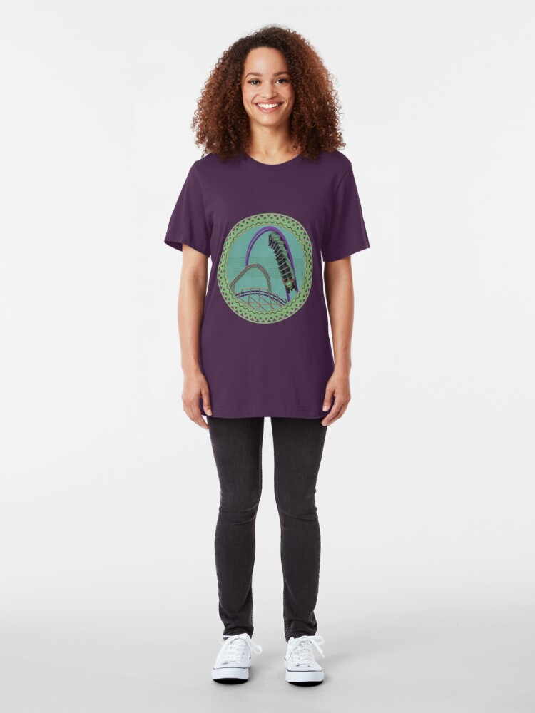 Alternate view of Iron Gwazi Death Roll Design Slim Fit T-Shirt