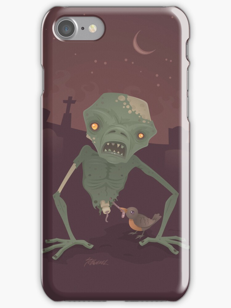 Sickly Zombie iPhone Case by fizzgig