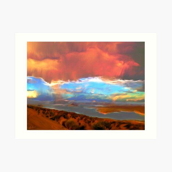 Lake Powell Rainfall Fractal Art Print