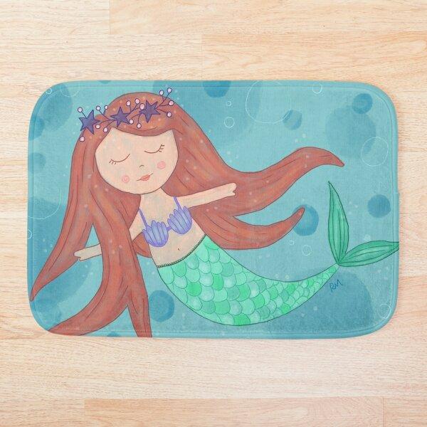 Peaceful Mermaid Bath Mat