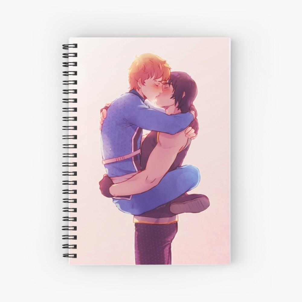 Bruising Kiss Spiral Notebook