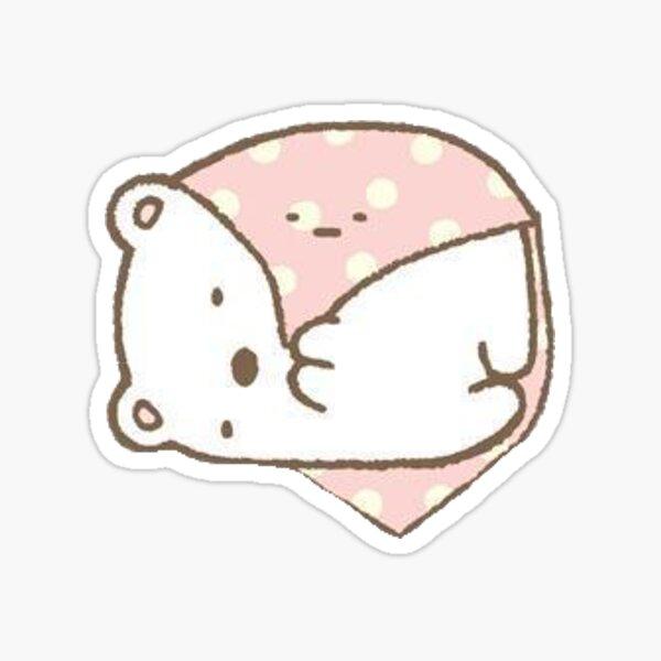 sumikko gurashi polar bear laying Sticker