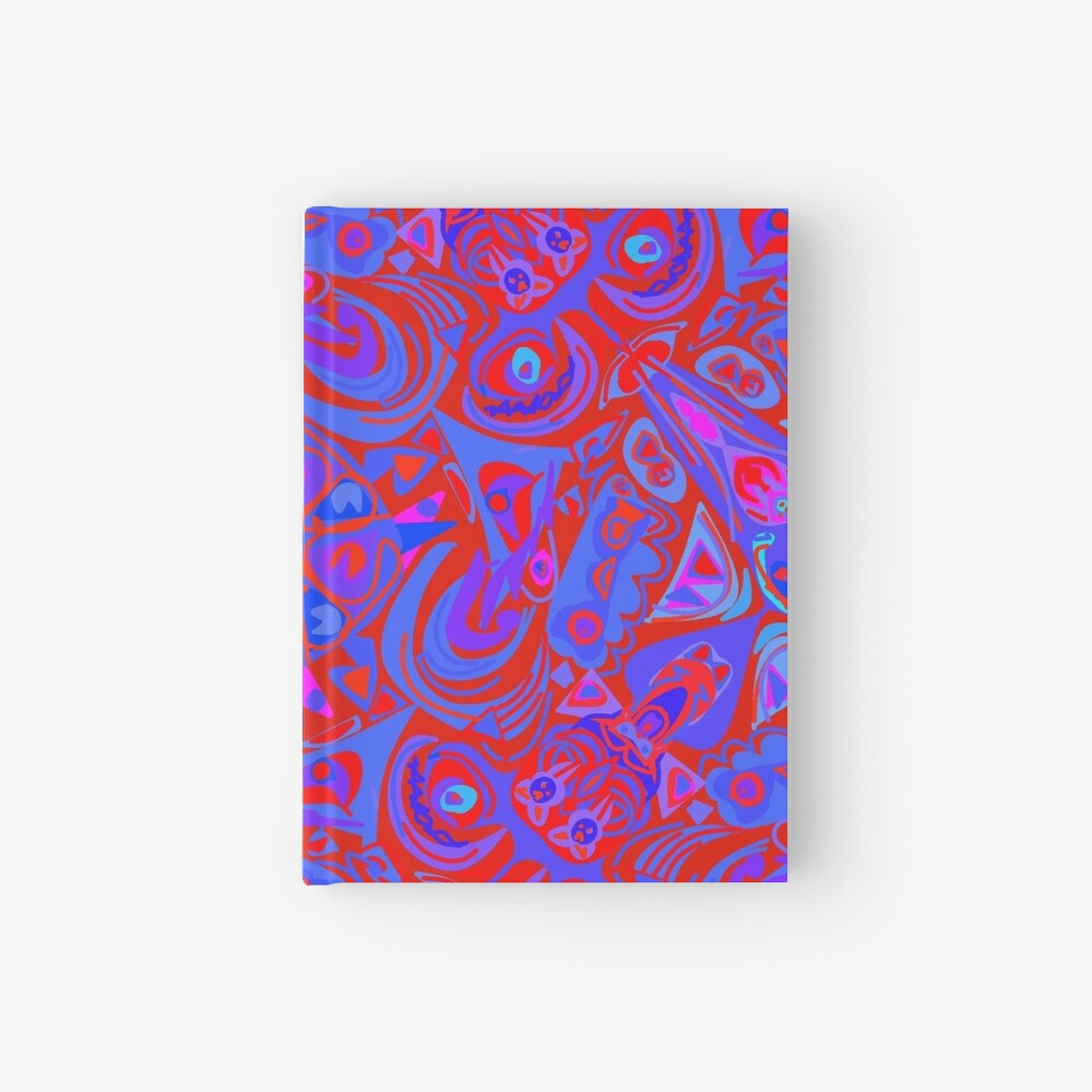 Hollywood Red Light & Blue Hardcover Journal