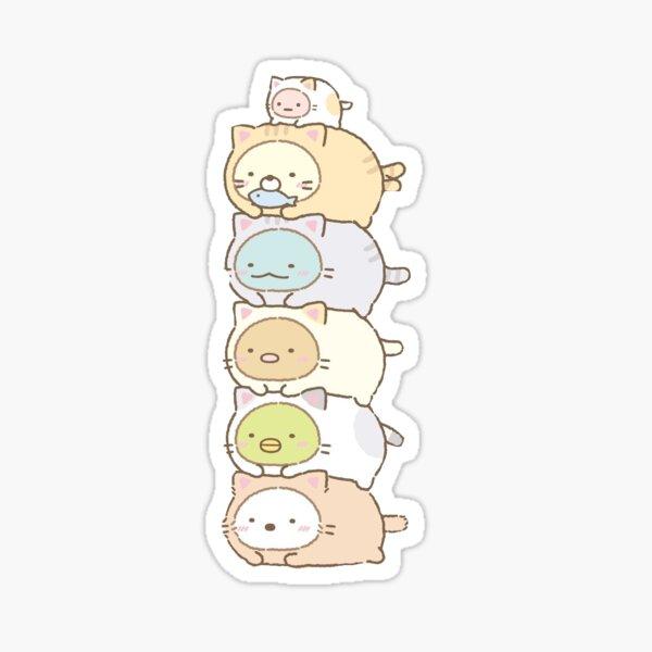 sumikko gurashi characters stacked Sticker