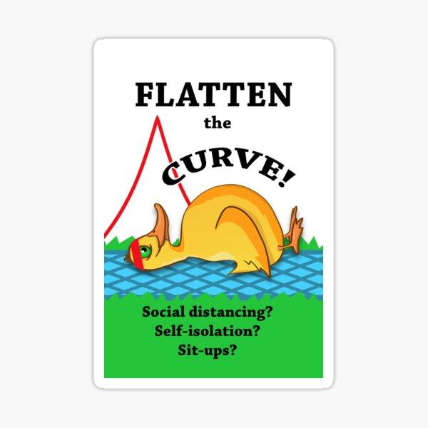 Flatten the Curve, Coronavirus  Sticker