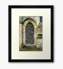 East Church Door Framed Print