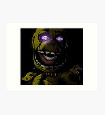 Creepy Springtrap design (FNAF) Art Print