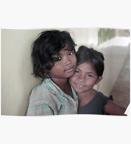 cambodian battambang street kids Poster