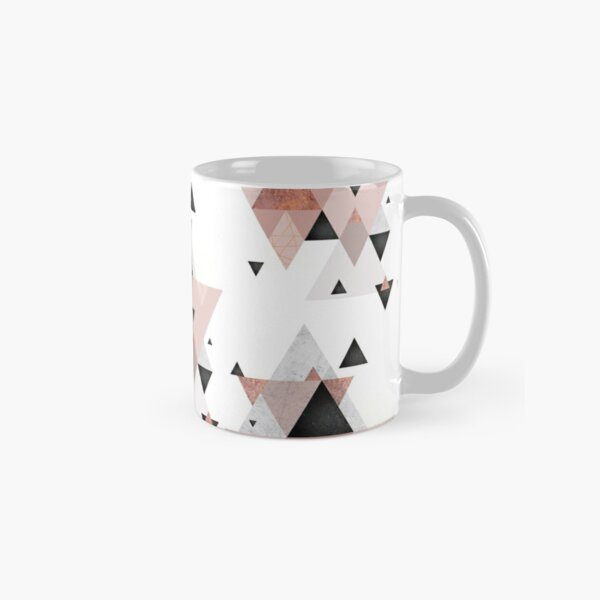 Geometric Compilation in Rose Gold and Blush Pink Classic Mug