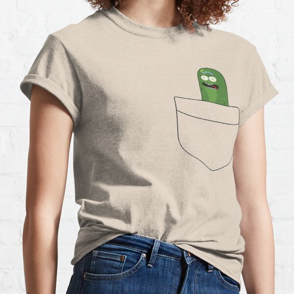 Pickle Rick Pocket Space Classic T-Shirt