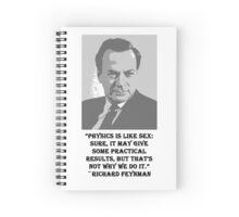 Richard Feynman Spiral Notebook