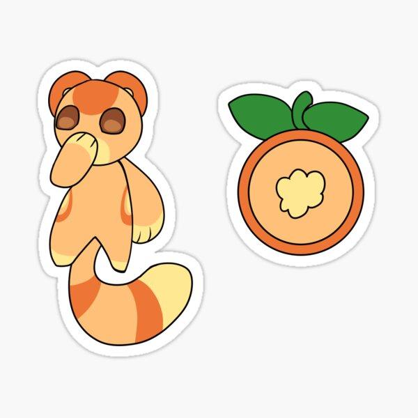 Viple Orange Moon Sticker