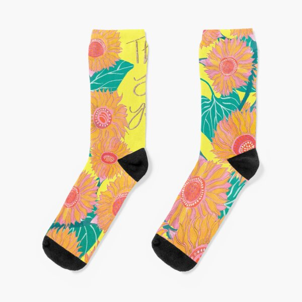 This Too Shall Pass with Sunflower Painting Socks