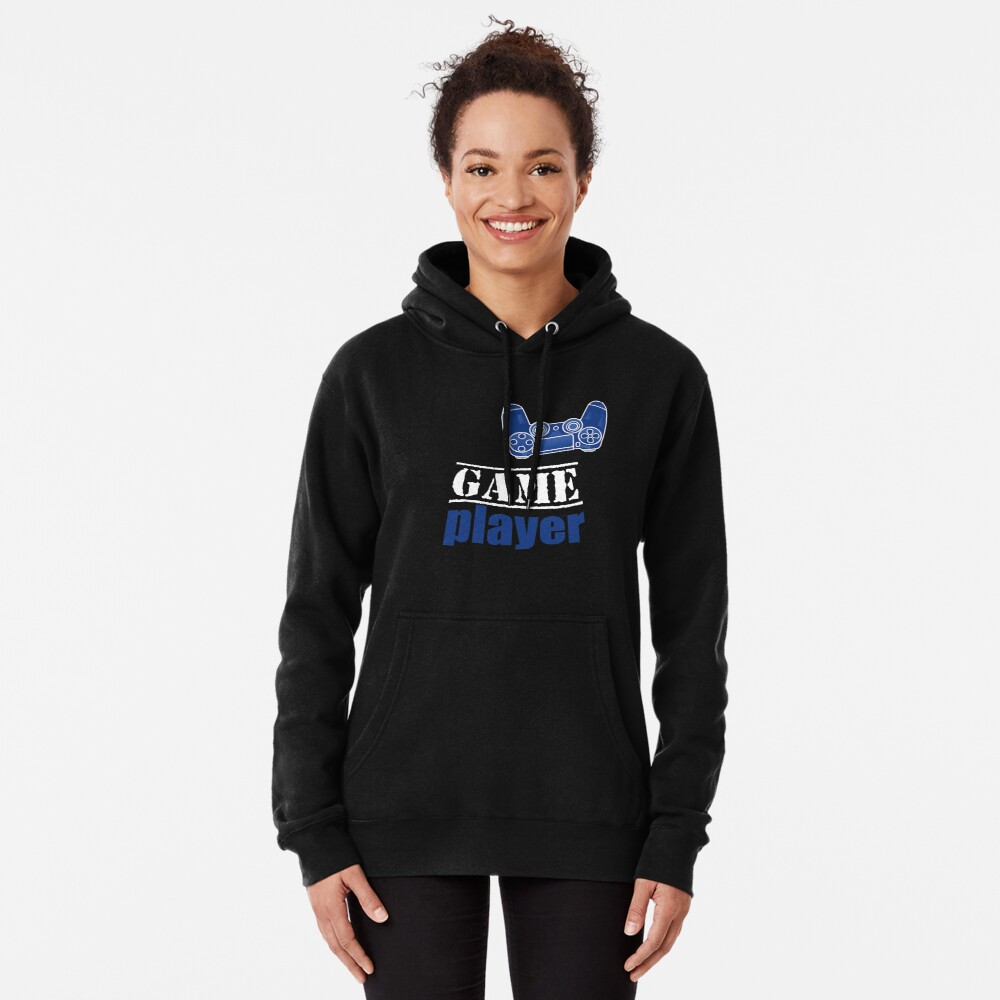 Game Player - Blue design Pullover Hoodie