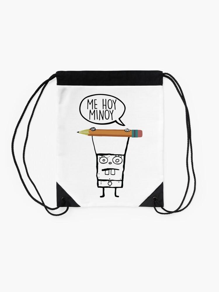 Alternate view of Me Hoy Minoy - Spongebob Drawstring Bag