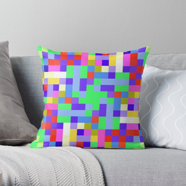 Pleasantly Picayune Pixel Pickle  Throw Pillow
