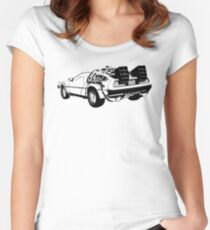 Back to the Future - Delorean Women's Fitted Scoop T-Shirt