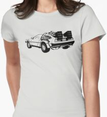 Back to the Future - Delorean Women's Fitted T-Shirt