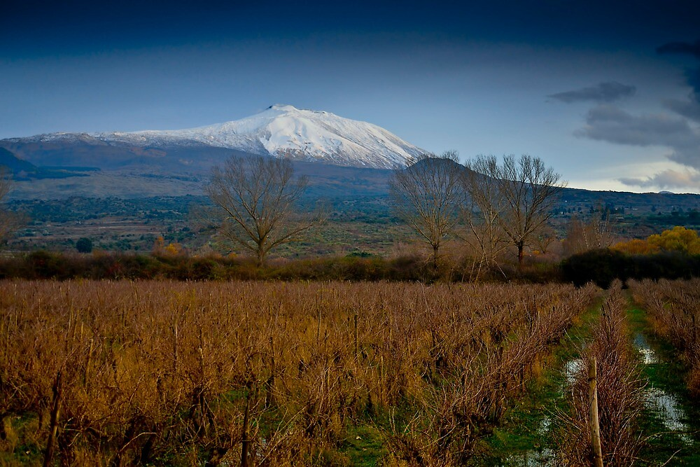 Panoramic view of Mt. Etna from lake Gurrida by Andrea Rapisarda