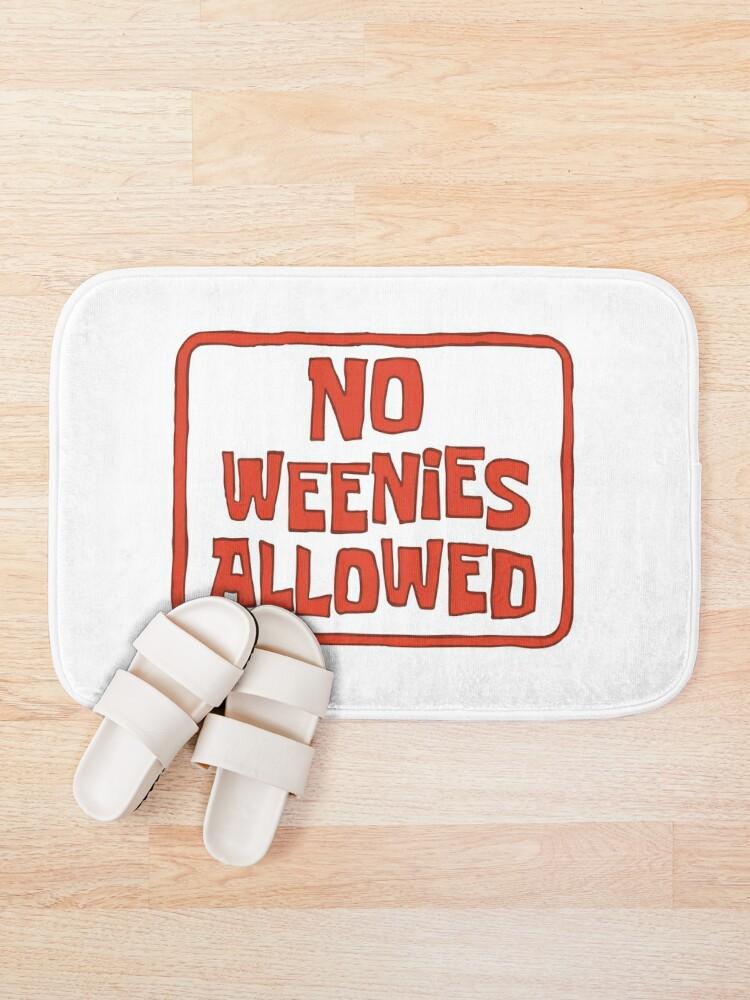 Alternate view of No Weenies Allowed - Spongebob Bath Mat