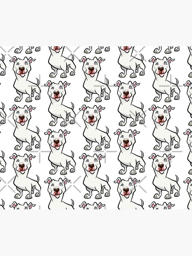 White Pit Bull by binarygod