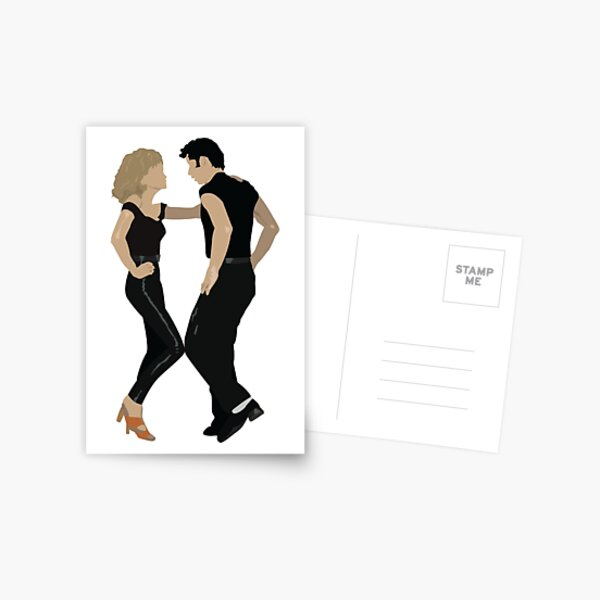 Grease - Danny and Sandy Postcard