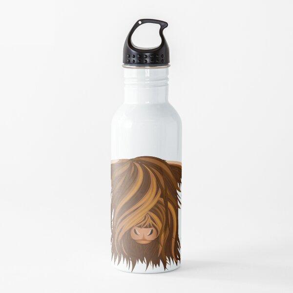 La cabeza de un Yak. Botella de agua