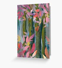 Autumn by a Waterfall Greeting Card