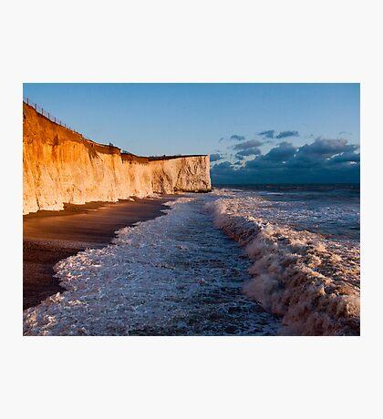 Golden Cliffs Photographic Print