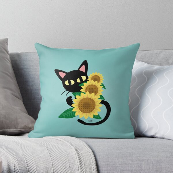 Whim with Sunflower Throw Pillow
