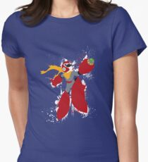 Protoman Splattery Shirt or Hoodie - Any Color Women's Fitted T-Shirt
