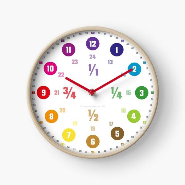 Echte-Lernuhren.de | Mathematisch Bruchzahlen Design Uhr
