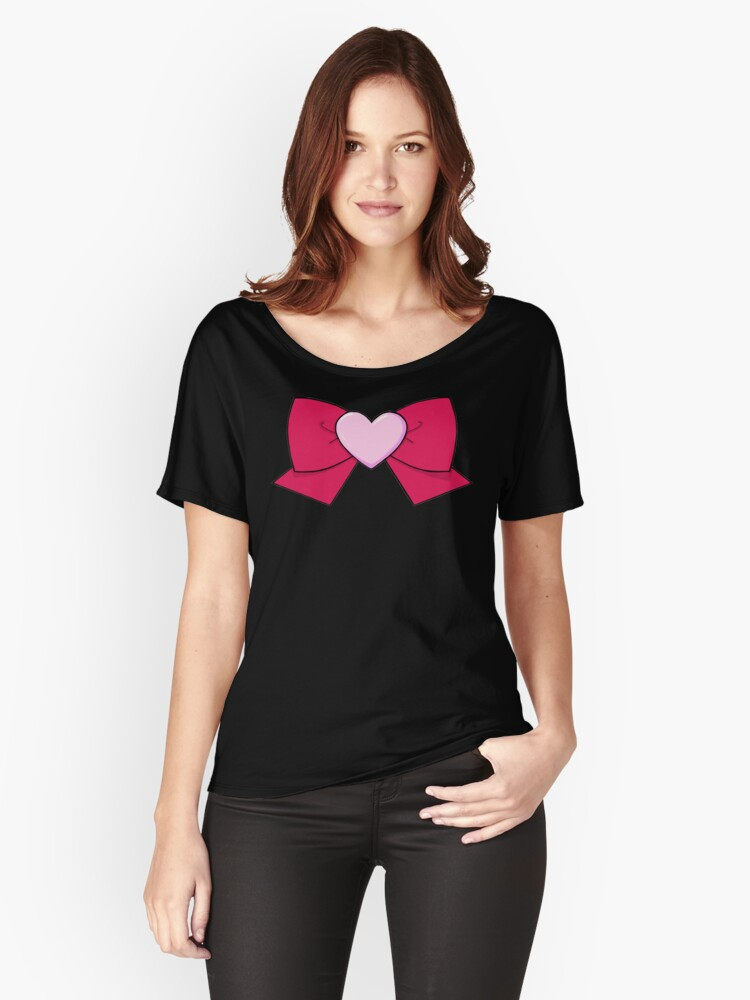 Chibi Chibi Bow Women's Relaxed Fit T-Shirt Front