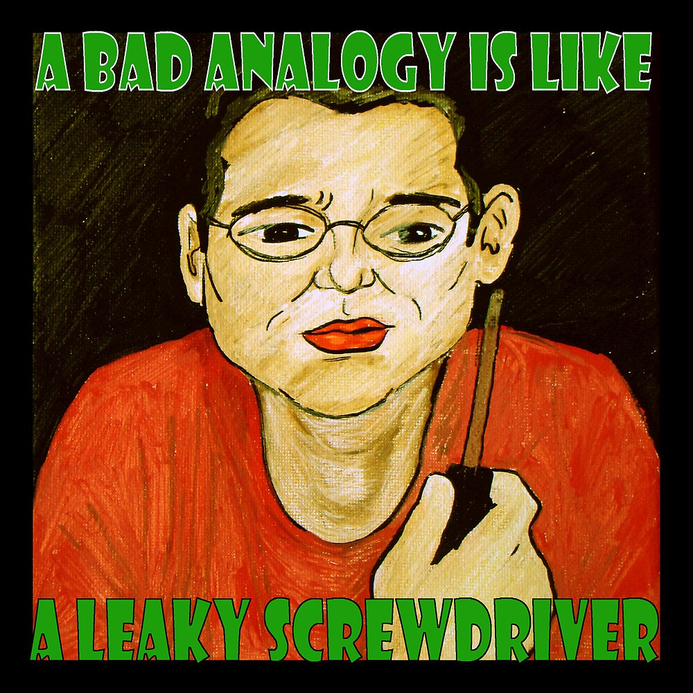 A Bad Analogy Is Like A Leaky Screwdriver by Jodi Gray
