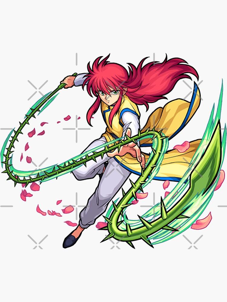 kurama youko yu yu hakusho sticker by grisart redbubble