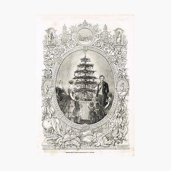 Victoria & Albert & Christmas Tree 1848 Photographic Print
