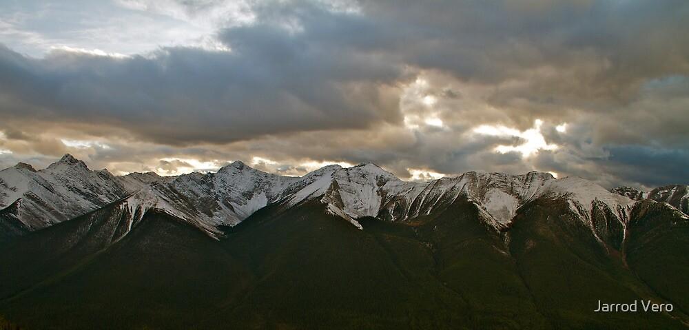 Mountain Range, Banff Canada by Jarrod Vero