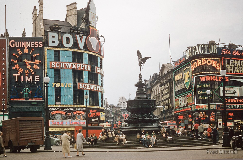 Eros Picadilly Circus London 19570827 0002 by Fred Mitchell