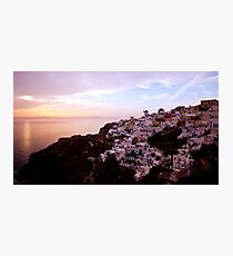 Oia Sunset - Santorini Photographic Print