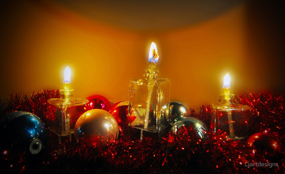Ornaments and Candles by Ljartdesigns