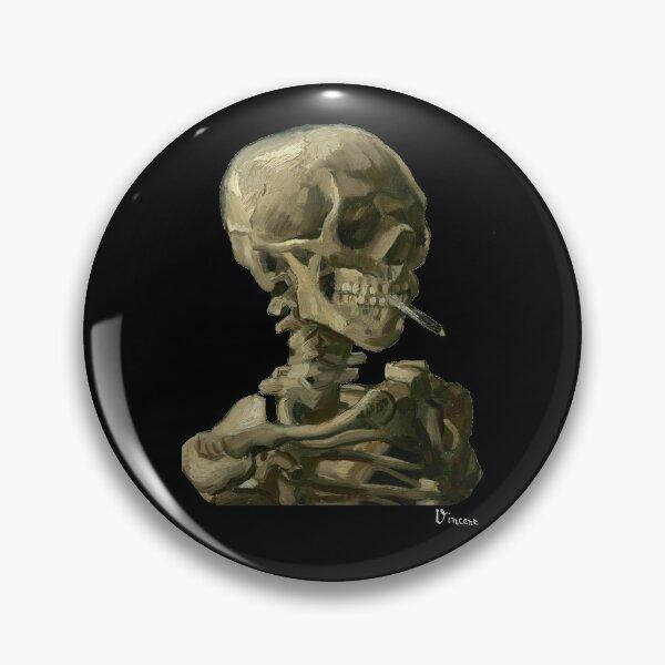 Van Gogh, Head of Skeleton Artwork Skull Reproduction, Posters, Tshirts, Prints, Bags, Men, Women, Kids Pin