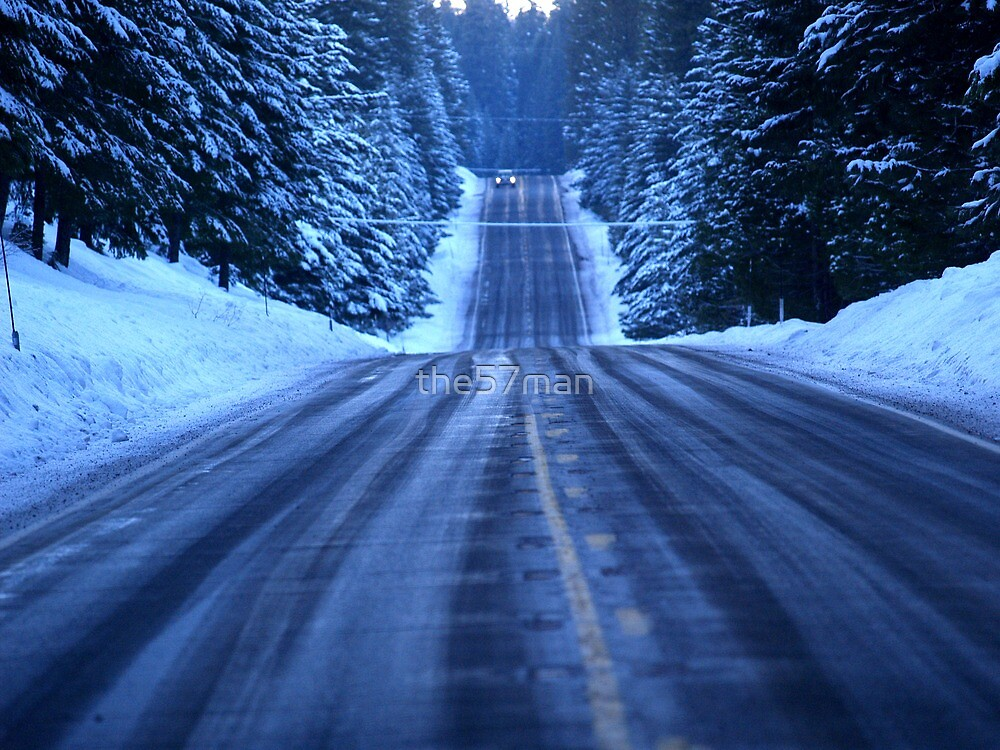 The Cold Snowy Road by the57man
