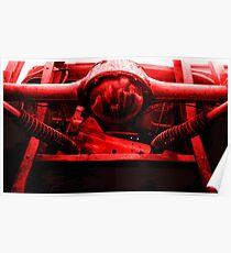 """"""" Red Alien """" Poster"""